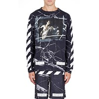 Off White C O Virgil Abloh Marble Print T Shirt Black