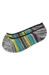 1901 No Show Liner Socks Grey Green