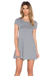 Bobi Light Weight Jersey Tee Dress Gray