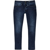 River Island Mens Dark Blue Wash Danny Super Skinny Jeans