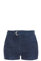 Elizabeth And James Lalette Suede Shorts Navy