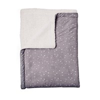Si. Som. Dos Dots Grey Blanket