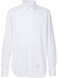Thom Browne Pleated Front Shirt White