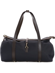 Mismo Leather Trim Holdall Blue