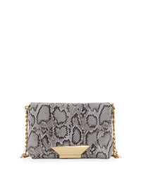Foley Corinna Ziggy Snake Embossed Leather Crossbody Bag Misty Viper