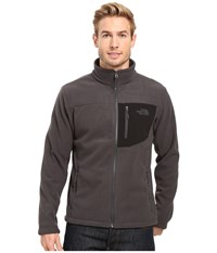 The North Face Chimborazo Full Zip Fleece Asphalt Grey Tnf Black Men's Coat