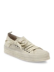 Ann Demeulemeester Side Lace Suede Sneakers Charcoal