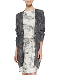 Vince Metallic Knit Button Front Cardigan