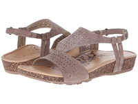 Aetrex Sandalista Melanie Adjustable Quarter Strap Taupe Women's Sandals