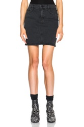 Mother High Waist Mini Skirt In Black