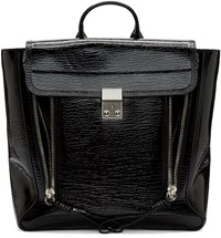 3.1 Phillip Lim Black Patent Leather Pashli Backpack