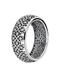 Pandora Design Pandora Ring Sterling Silver And Cubic Zirconia Intricate Lattice