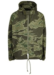 Yeezy Army Green Camouflage Cotton Parka Olive