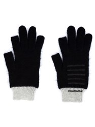 Rick Owens Knit Gloves Black