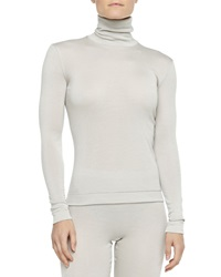 Hanro Cashmere Silk Turtleneck Top Pergament