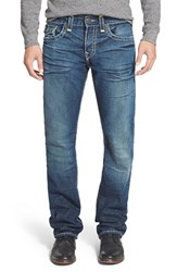Men's Big And Tall True Religion Brand Jeans 'Ricky' Relaxed Straight Fit Jeans Day Shadows