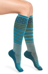 Sockwell Women's 'Twister' Merino Wool Blend Compression Socks Teal