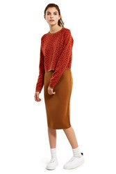 Esprit By Opening Ceremony Reversible Skirt Brown Multi