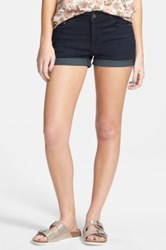 Bp High Rise Denim Shorts Blue