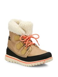 Sorel Cozy Carnival Nylon And Fleece Boots Black Curry