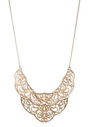 Miss Selfridge New Lace Necklace Goldcoloured