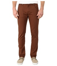 Rvca Daggers Twill Cocoa Men's Casual Pants Brown
