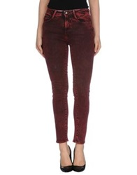 Miss Sixty Denim Pants Brick Red