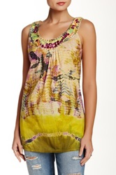 Chaudry Beaded Trim Blouse Yellow