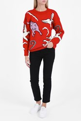 Paul And Joe Cat Jumper Red