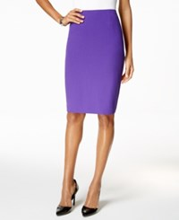 Kasper Crepe Pencil Skirt Regal Purple