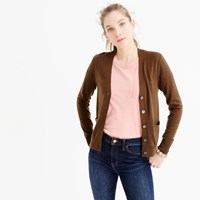 J.Crew V Neck Cardigan Sweater In Merino Wool