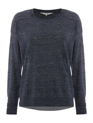 Part Two Pullover In Detailed Contrast Blue