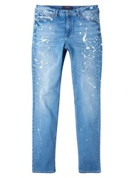 Violeta By Mango Slim Pollock Jeans Open Blue