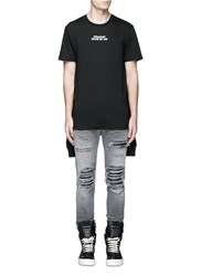 Hood By Air 'Crew' Sleeve Combo Cotton T Shirt Black