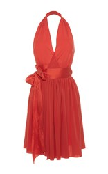 Alexis Mabille Halter Sundress Coral