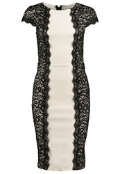 Paper Dolls Cocktail Dress Party Dress Cream Black White