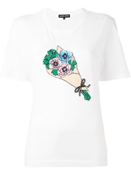 Markus Lupfer Sequined Bouquet T Shirt White