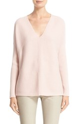 Lafayette 148 New York Women's V Neck Wool Flannel Sweater