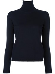 Red Valentino Turtleneck Pullover Blue