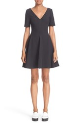 Opening Ceremony Women's V Neck Fit And Flare Dress