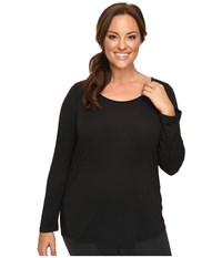 Lucy Extended Long Sleeve Workout Tee Black Women's Workout