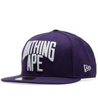 A Bathing Ape New Era Nyc Logo Cap Purple