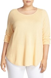 Eileen Fisher Plus Size Women's Organic Cotton And Cashmere Ballet Neck Pullover
