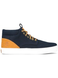 Timberland Lace Up Hi Top Sneakers Blue