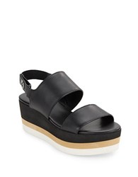 Via Spiga Neza Strappy Platform Sandals Black