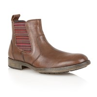 Lotus Slip On Casual Chelsea Boots Brown