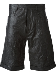 Mcq By Alexander Mcqueen Wrinkled Shorts Black
