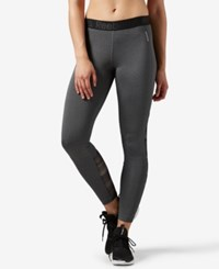 Reebok Speedwick Logo Leggings Dark Grey