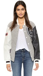 Opening Ceremony Oc Classic Varsity Jacket Light Grey Multi