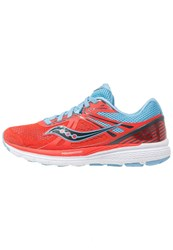 Saucony Swerve Cushioned Running Shoes Orange Blue